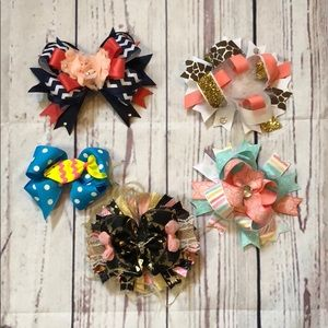 Other - 5 Boutique hair bows
